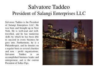 Salvatore Taddeo - President of Salangi Enterprises LLC