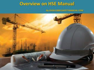 PPT Presentation on HSE Manual