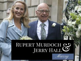 Rupert Murdoch and Jerry Hall marry