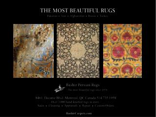 Bashir Persian Rugs - the most beautiful carpets in Montreal