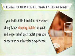 Buy Sleeping Tablets