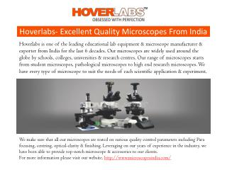 Microscopes Manufactures India