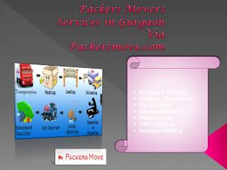 packers movers services in Gurgaon