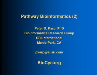 Pathway Bioinformatics (2)