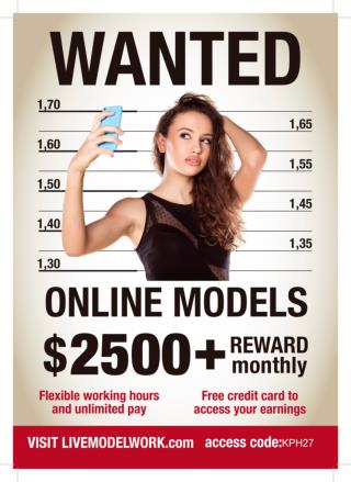 Generate $2000 above High Paying Webcam Models Wanted Worldwide