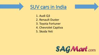 Find SUV cars in India 2016