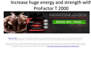 Improve Blood Supply In Your Body With ProFactor T 2000