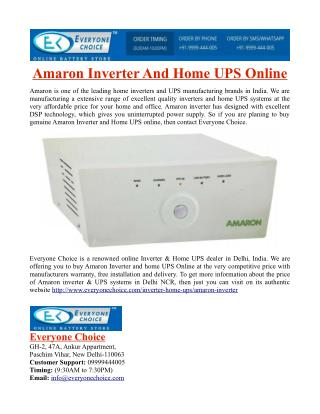 Amaron Inverter And Home UPS Online in India