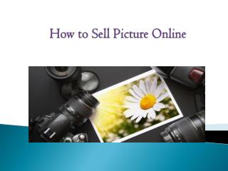 How to sell Picture online