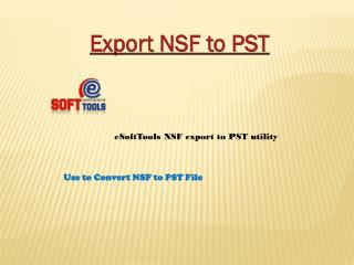 Export NSF to PST