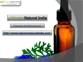 Get premium range of natural essential oils at natures natural india