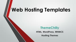 Web Hosting Templates- ThemeChilly