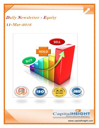 Daily Equity Newsletter Stock Market Tips by CapitalHeight