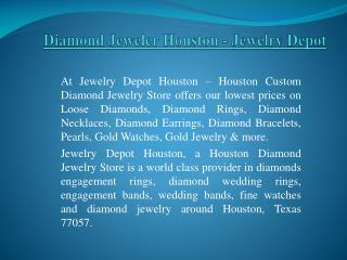 Stunning Collection Of Diamond Jewelry In Houston