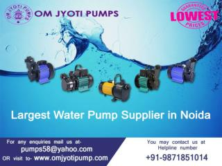 Water pump dealer noida | Om Jyoti Pumps  91-9871851014