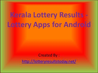 Kerala lotteries result