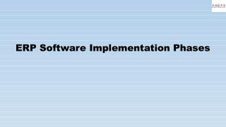 ERP Software Implementation Phases
