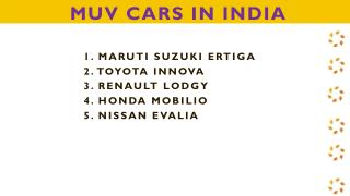 Find Out The List of MUV cars in India