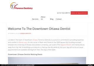 Welcome To Downtown Ottawa Dentist - Florence Dentistry