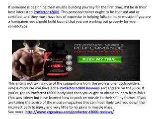 How to Become Fit and Healthy with Profactor T2000 Reviews