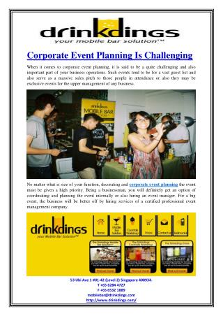 Corporate Event Planning Is Challenging