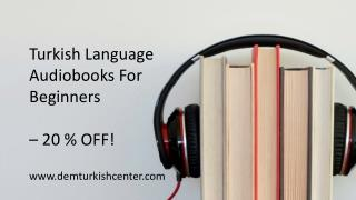 Turkish Language Learning Audiobooks For Beginners