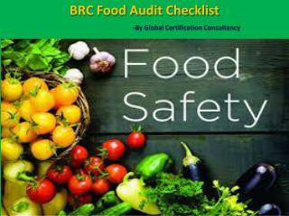 BRC Food Audit Checklist Presentation by Certificationconsultancy.com