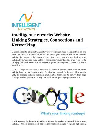 Intelligent-networks Website Linking Strategies and Connections