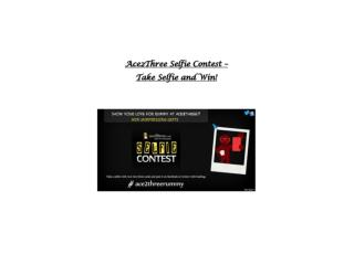 Ace2Three Rummy Selfie Contest – Take a Selfie and Win!