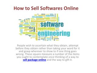 How to sell softwares online