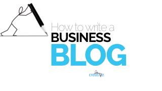 How to Write a Business Blog