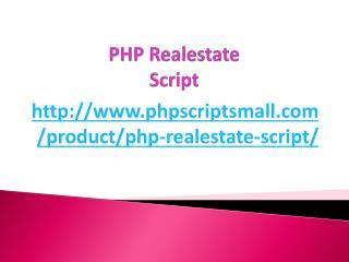 PHP Realestate Script