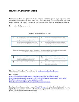 Info About Lead Generation Process