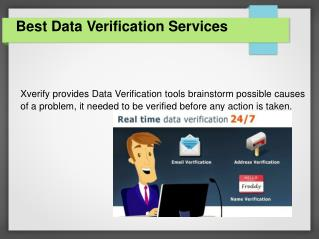 Online Data Verification Services