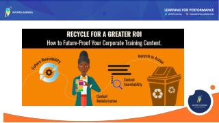 Recycle Your Corporate Training Content for a Greater ROI
