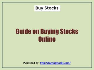 Buy Stocks-Guide on Buying Stocks Online