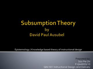 Subsumption  Theory