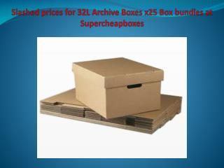 Slashed prices for 32L Archive Boxes x25 Box bundles at Supercheapboxes