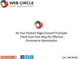 Do Your Product Pages Convert? Consider These Sure-Fore Ways for Effective Ecommerce Optimisation