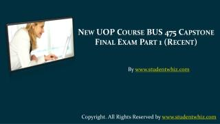 BUS 475 Final Exam 100 Questions