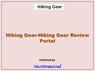 Hiking Gear Review Portal