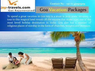 Goa Vacations India