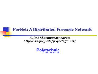 ForNet: A Distributed Forensic Network