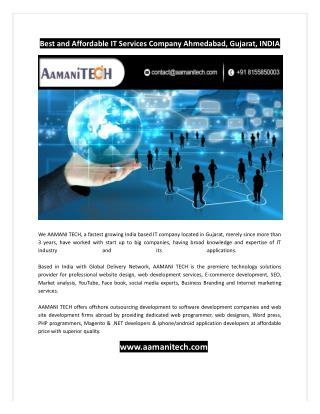 Affordable IT Services Company INDIA