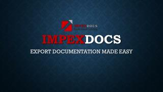 Export Documentation Made Easy