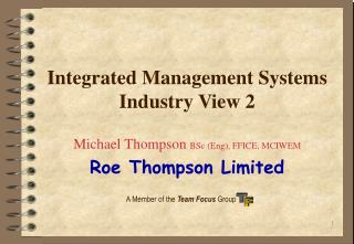 Integrated Management Systems Industry View 2