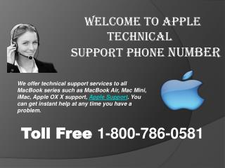 Apple Technical Support Helpdesk- 800-786-0581