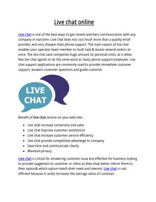 Live chat online