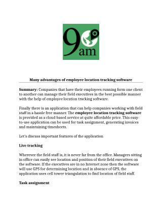 Employee Location Tracking Software