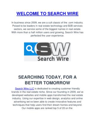 Get Real Estate Leads By Search-wire
